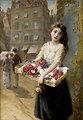 Augustus Edwin Mulready A street flower seller 1882.jpg
