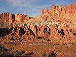 Erosion of red sandstone
