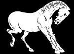 Prancing horse outline