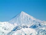 Mount Damavand in winter, Iran.