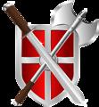 sword, battleaxe & shield