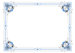 border - variation in blue