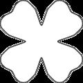 Flower 4 Petal Heart Template
