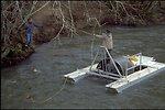 Installing Fish Trap on Wolf Creek.