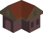Placeholder Isometric Building Icon Colored Dark