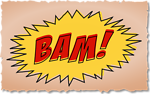 BAM comic book sound effect