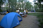 Tents and picnic area at Kipp Recreation Site