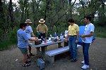 Visitors at a picnic table at Kipp Recreation Site