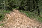 Damage to road from off-road vehicles in the Judith Mountains