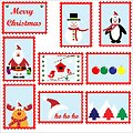 Christmas postage stamps template