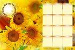 Calendar with sunflowers