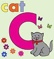 Cat alphabet letter c