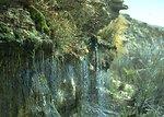 Scenic view of waterfall.