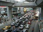 =Traffic at Siam Square, Bangkok
