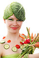Vegetable woman