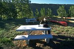 Canoe launch campgrounds at Fort Benton fairgrounds