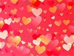 Pink love heart pattern