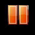 Pause Orange Button Tango Style