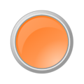 Glossy Light Orange Button