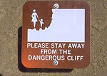 Warning sign at the Red Gulch Dinosaur Tracksite, Worland Field Office.