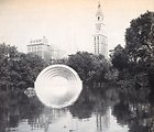 The Music Shell in Bushnell Park which was now functioning as a reflecting pool. Flooding in the aftermath of the 1938 New England Hurricane.