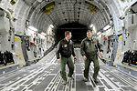 Commander flies C-17