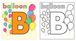 Balloon coloring book page