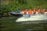 """Rogue River - Wild section. Commercial Jet boat from Gold Beach """"Mail Boat""""."""