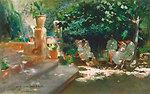 Ladies in the Garden. Oil on canvas, 42.1 x 66.4 cm, Inv. CTB.1997.93    Museo Carmen Thyssen         Native name Museo Carmen Thyssen   Location Málaga, Spain    Coordinates 36°43′17″N, 4°25′22″W      Established 2011   Websi