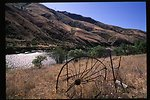 Wagon wheel and bed frame  Lower Salmon River  Cottonwood Field Office  UCSC  Upper Columbia Salmon Clearwater District