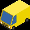 CM Isometric Yellow Van