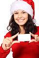 Santa and blank card