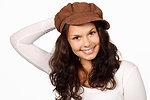 Model in a hat