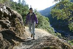 Hiking the Rogue River Trail between Mule Creek and Blossom Rapids.