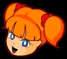 Redhead anime girl