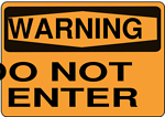 Warning - Do Not Enter (Orange)