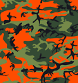 Camo Print - Hunter Orange
