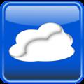 Cloud computing button glossy. Nube computo brilloso.