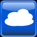 Cloud computing button. Nube computo
