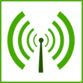 eco green wifi pollution icon