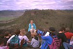Table Rock hike: Jeanne Klein teaches an elementary school class on the Upper Table Rock.