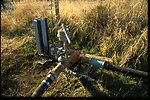 Electronic pump system for wildlife and cottonwood fields in the John Day River.