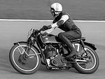 Vintage velocette race bike