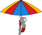 Mouse on umbrella