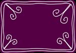 Purple voucher template A4