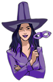 Witch in purple