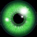 eye, akis žalia