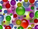 Colorful bubbles squares background