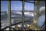 View from Yaquina Head Lighthouse lens area.
