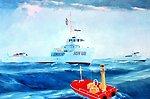 Artist's conception of the NOAA Ship FERREL.